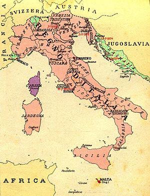 Region irredente Italia