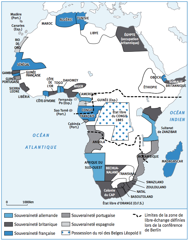 conquete coloniales afriques apres 1885