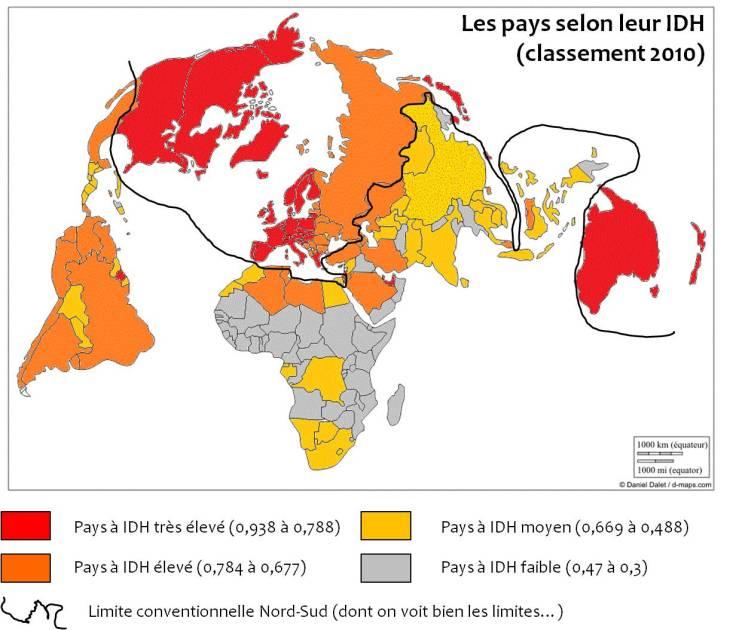 les-pays-selon-leur-idh-classement-20101