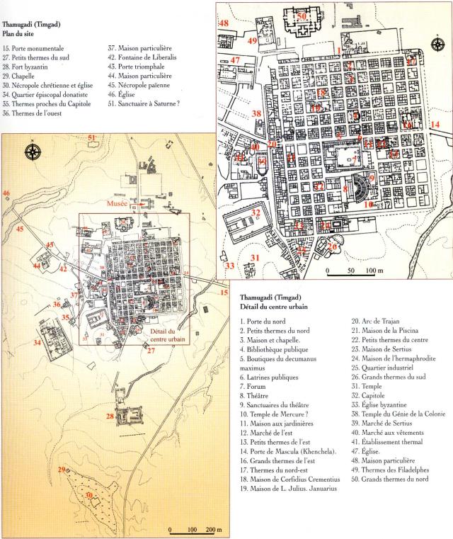 Timgad Plan Ville Le Cardo