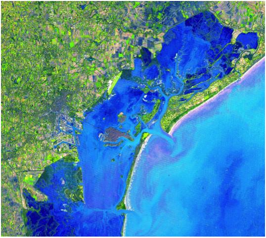 Venise lagune satellite