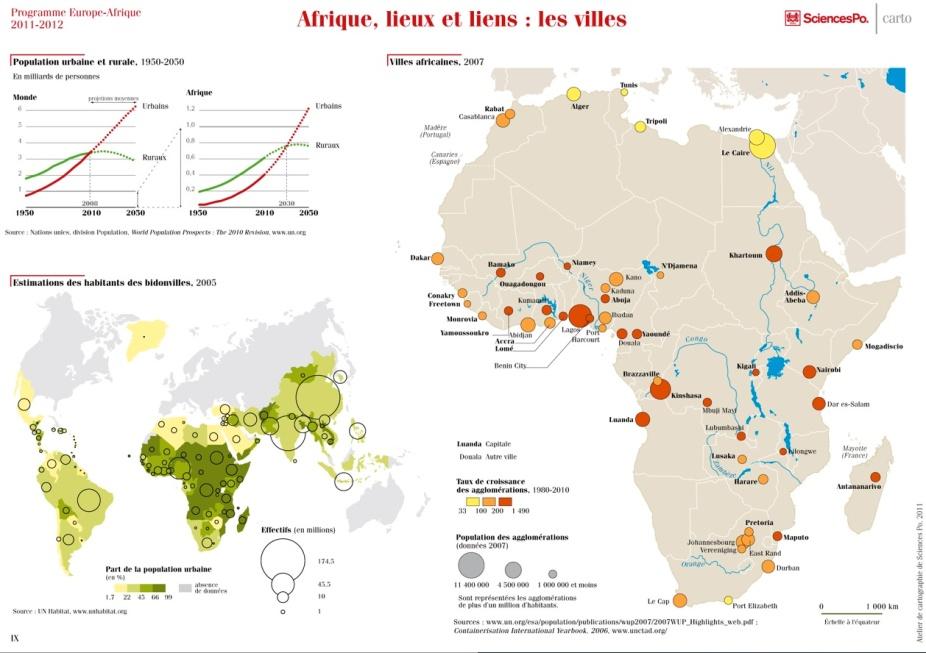 lieux et villes afrique