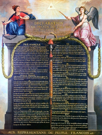 Déclaration des Droits août 1789