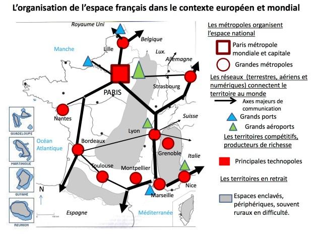 Organisation espace français en Europe et dans le monde